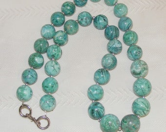 Rare Rocky Mountain High Turquoise Jasper Necklace
