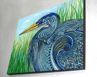 Great Blue Heron Wall Panel