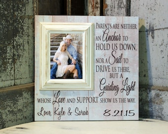 Parents Thank You Gift, Parents Thank you Wedding Gift, Mother of the Bride, Father of the Bride, Siblings, Personalized Picture Frame,