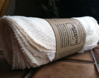 Organic Unbleached Cotton Birdseye Unpaper Towels - Smaller Sizes - You Pick Quantity and Size