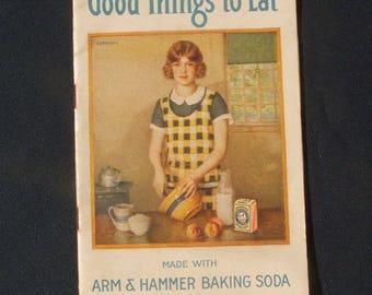 Vintage Original Good Things To Eat Recipe Booklet Arm & Hammer Baking Soda  78th Ed.