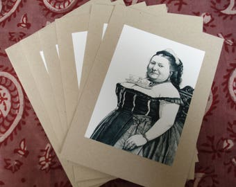 Tea for Two (set of 5 blank 5x7 cards)