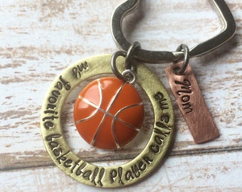 My Favorite Basketball Player Calls Me Mom - Basketball Keychain - Basketball Mom - Sport Parent - Father's Day - Mom Gift - Sports Keyring