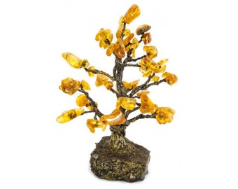 Small amber statue, Baltic Amber Tree, Souvenir, Home Decor, Amber decor, Amber gift
