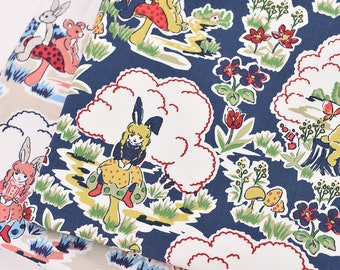 4823 - Fairy Tale Forest Double Gauze Cotton Fabric - 57 Inch (Width) x 1/2 Yard (Length)