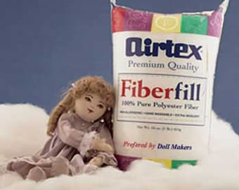 Airtex Fiberfill Premium Stuffing 12 oz.  Perfect for Soft Sculpture Dolls.