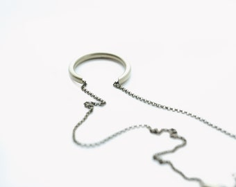 CIVAL Collective - Jo | Necklace | Minimalist Brass Open Circle | Mod | Simple Basic | Layering Necklace | Everyday Wear | Gift