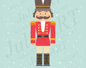 cartoon сhristmas nutcracker and сhristmas ballerina vector image