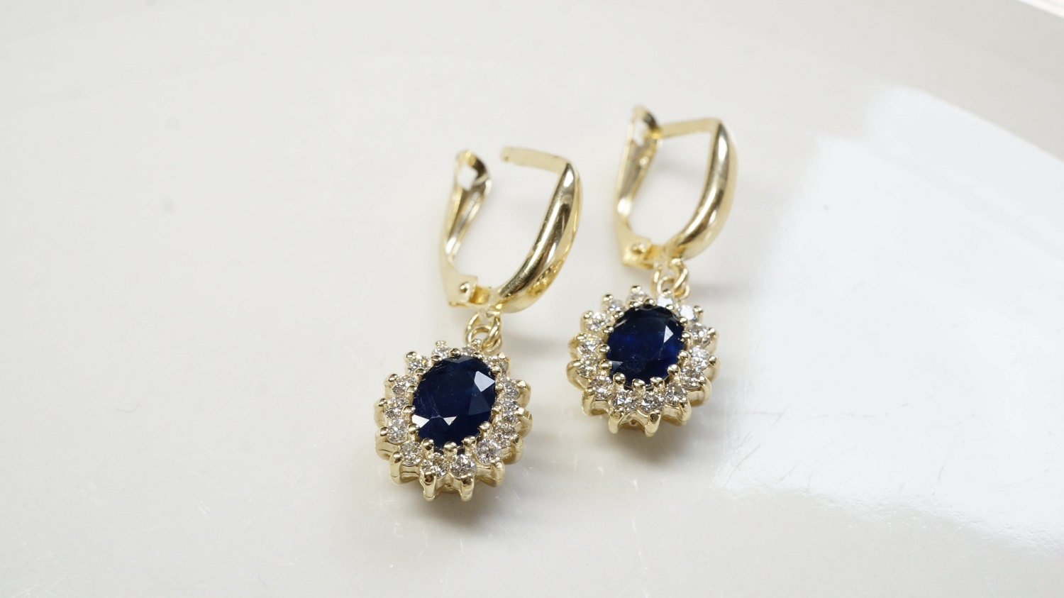 white jewelry gold in created cut sapphire round carat ct earrings stud