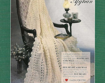 Vintage Crochet Primrose Path Afghan blanket instant download crochet pattern