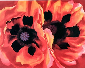 Georgia O'Keeffe / Oriental Poppies / 1928 / Art / Book Page Print / Published 1990's