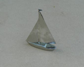 Yacht Ornament - Silver Plated - Grenadier - Vintage Silverplate