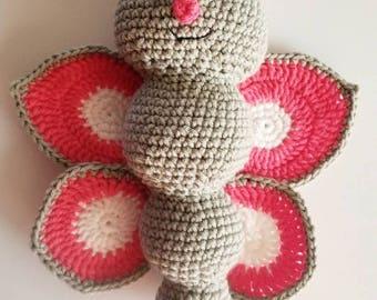 Crochet amigurumi love bug