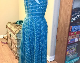 Beautiful handmade dress with matching belt and bolero from the 1950s