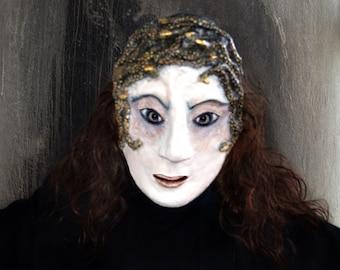 Medusa  paper  mask Masquerade Paper mache Medusa  mask  Medusa  costume  mask