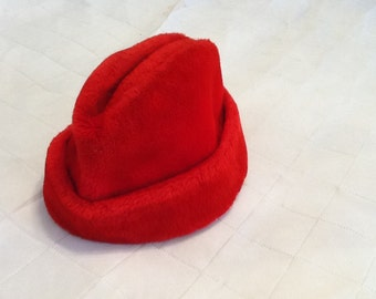 Vintage Men's Winter Hat Winter Cap Red