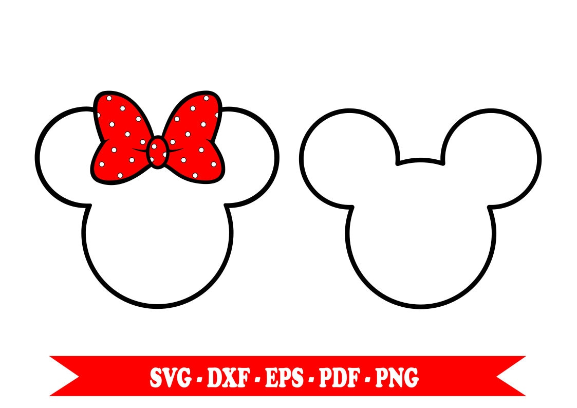 Minnie Mouse Svg Mickey Clip Art Outline In