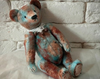 To order!Vintage bear Ancient style Teddy bear Antique toy Collectible toy Old toys Classic teddy bear Personalized gifts Attic bear Gifts