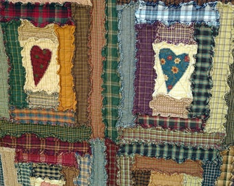 Raw Edge Log Cabin Quilt Pattern by Rosemary Makhan