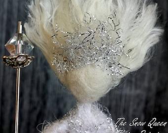 Snow Queen White Silk Doll