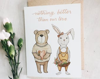 Nothing Better Than Our Love - greeting card - valentines day - valentine - love - best friend - spouse - anniversary stationary