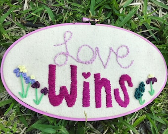 Love Wins Embroidery!