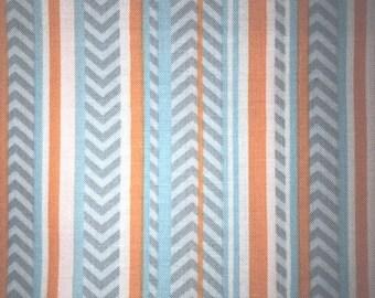 "OOP Annette Tatum AT45 Zig Zag Stripe Striped Soleil Sky Blue Westminster Fibers Free Spirit Designer Quilting 18"" BTHY Sewing Quilt Fabric"