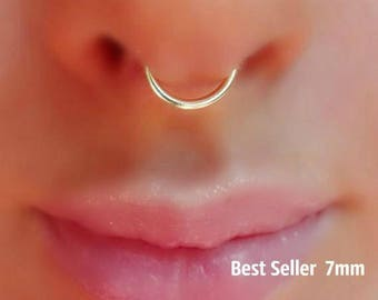 Tiny Fake Nose Ring Hoop Piercing