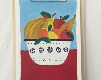 Painting: An apple a day...