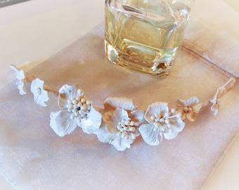 Spring, half crown, Spring Tiara, bridal tiara, bridal headdress, headdress-weddings and parties