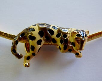 KJL Cheetah Slide on Chain