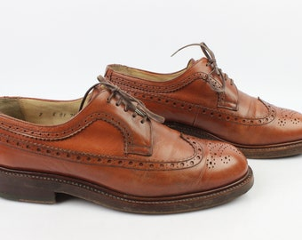 VINTAGE Derby FENESTRIER UNIC Leather Brown Goodyear Uk 7 E / Fr 40.5 very good condition (3204)