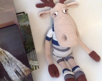 Crochet toys / Traveler Elk / knitted cotton toy / knitted toys / knitted animal / Elk / Лось / вязаная игрушка