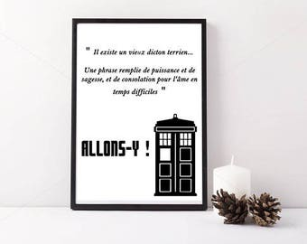 Doctor who (10th) quote poster