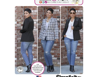 Simplicity Pattern 1066 Misses Lined Jacket Mimi G Collection Misses 6-14 or 16-24 B, C, D, DD Cup Sizes Mimi G Style New and Uncut Pattern