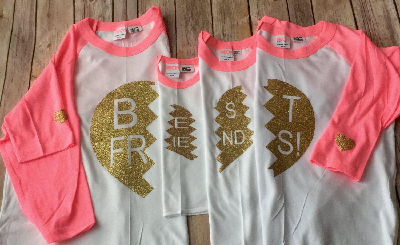 Best friends 3 4 sleeve raglan4 way split sibling shirts for for Best custom t shirts