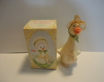 Avon collectible perfume bottle, Avon Mrs. Quackles perfume bottle, Vintage Avon bottle