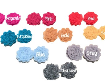 """1"""" Petite Felt Flower ~ Felt Rosette"""