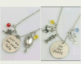 Disney Beauty and the Beast Charm Necklace