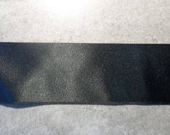 50mm plain black satin ribbon
