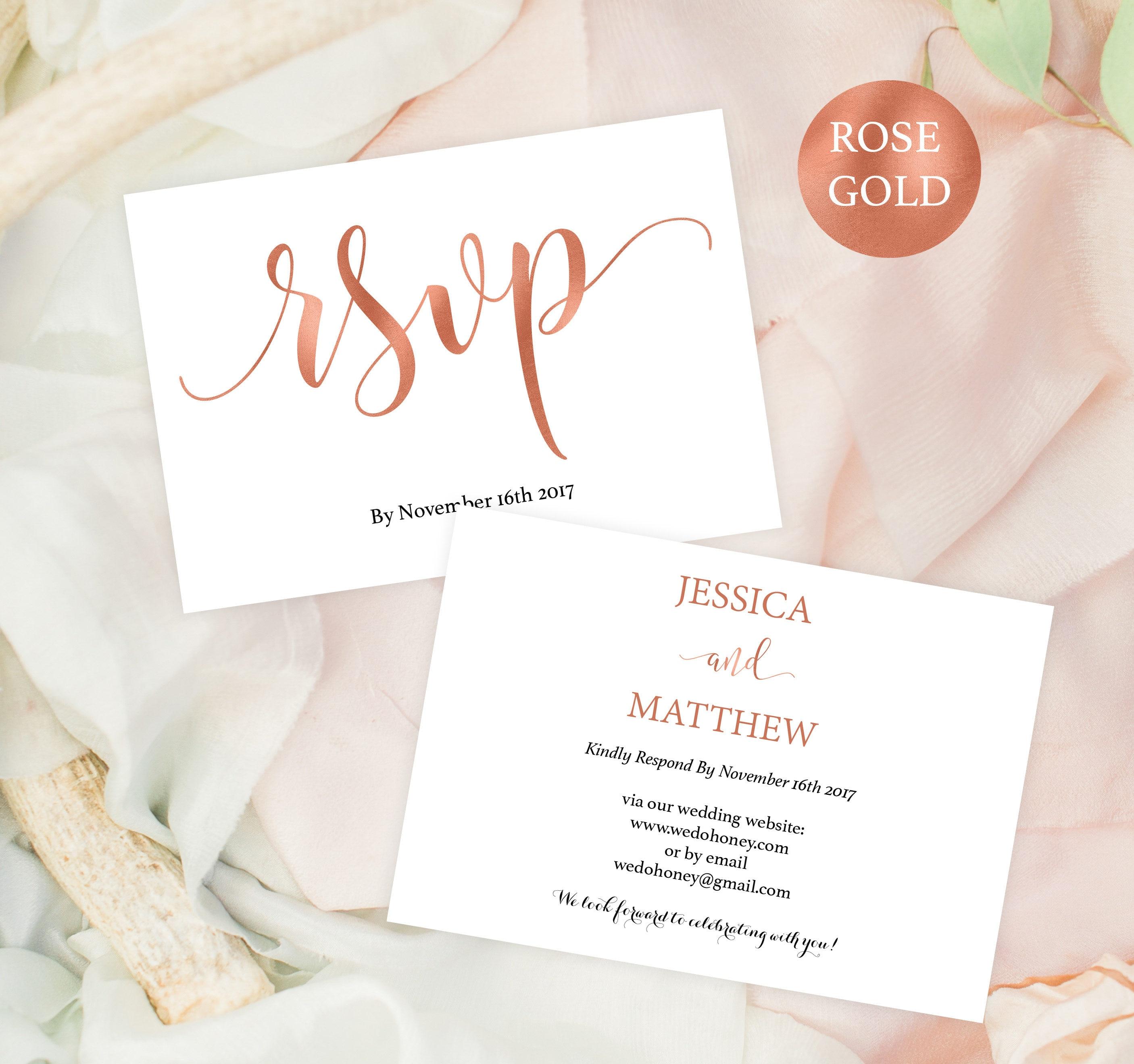 wedding rsvp postcard rsvp template rsvp online rose. Black Bedroom Furniture Sets. Home Design Ideas