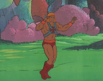 He-Man Masters of the Universe Production Animation Art Cel