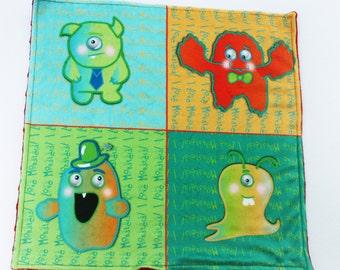 Minky blanket monster baby monster blanket lovie blanket security blanket baby blanket custom monsters