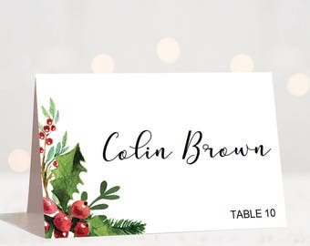 Printable Christmas Place Cards Holiday Party Favors At Kid Ss