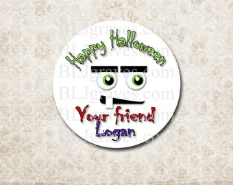 Personalized Halloween Stickers Labels Party Favor Treat Bag Sticker SH029