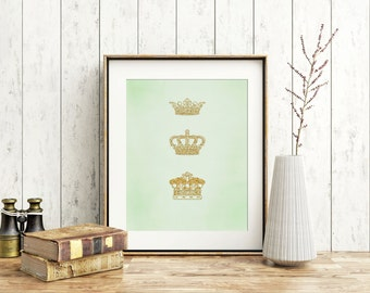Instant Download Three Crowns  JPEG File For You to Download Print and Hang