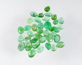 25.2 cts  emerald mixed cobochon lot pakistan