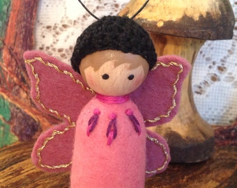 Rose and Mauve Butterfly Spring-a-Ling