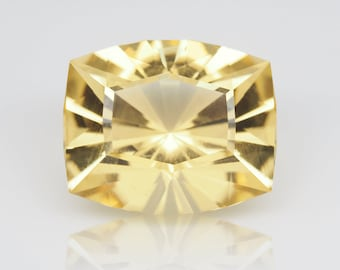 5.45 ct Heliodor from Brazil. Barion Cushion cut, 12x10 mm Natural Loose gemstone. Precision faceting.