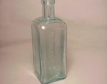 c1890s Dr. Shoop's Family Medicines Racine, Wis. , Cork Top Aqua Medicine Bottle No. 2